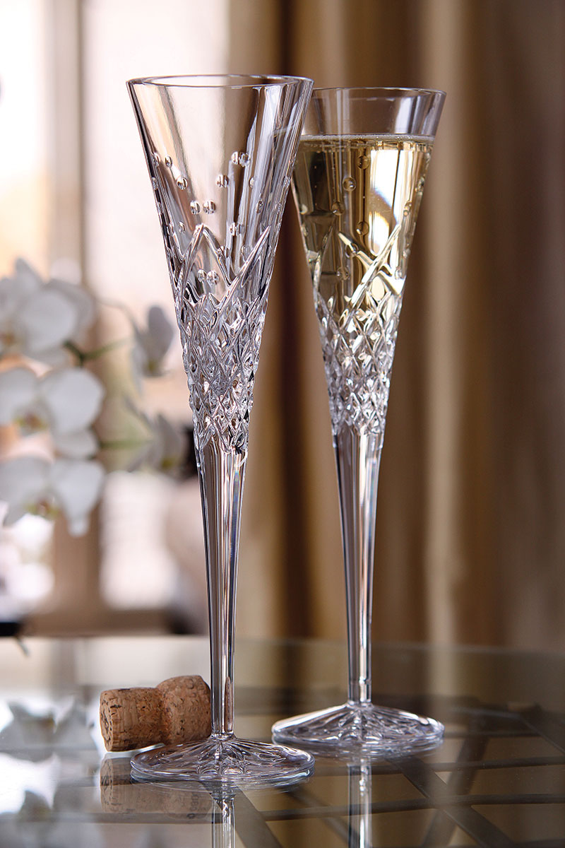 Waterford Crystal Happy Celebrations Toasting Flutes