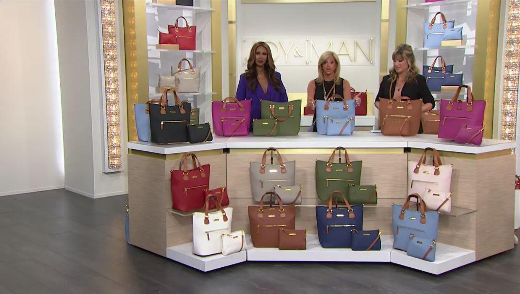 HSN) JOY & IMAN Alexandria Leather Tote and Crossbody - TVShoppingQueens