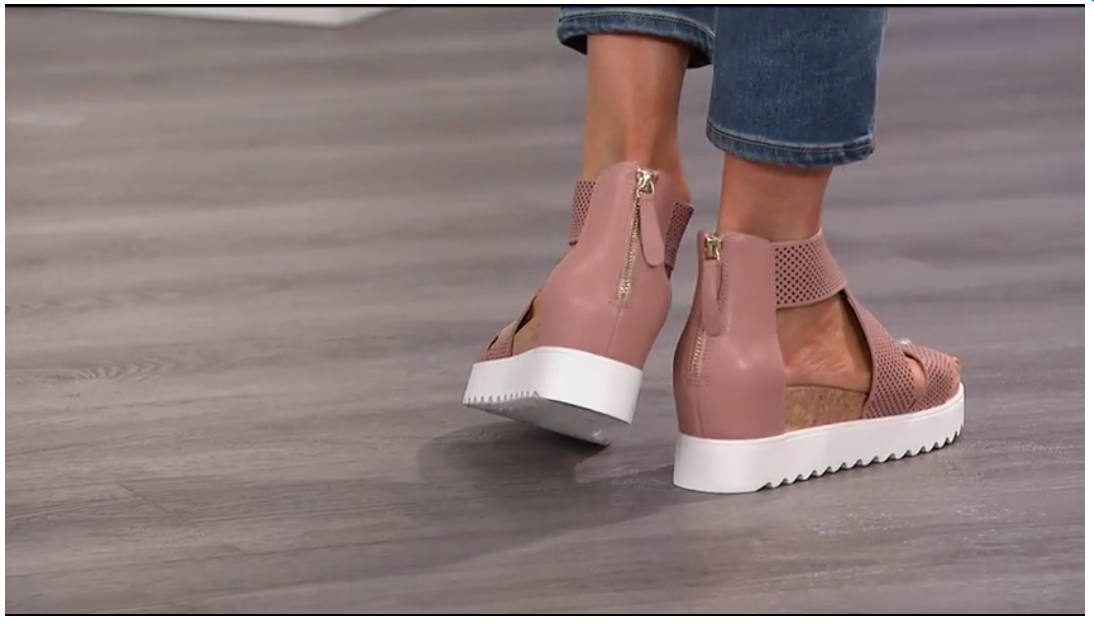 5bcfe371e68 HSN) Steven Natural Comfort Kea Leather Platform Sandal ...